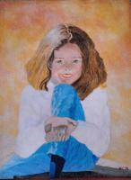 Oil Paintings - Little Girl - Oil On Masonite