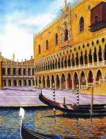 Architectural - Palazzo Dei Dogi The Doges Palace - Watercolor