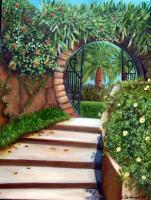 Landscapes - Moongate At Par De Ville - Oils On Canvas