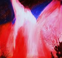 Nisarga- Nature - Aurora Borialis - Acrylic On Canvas