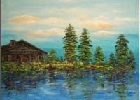 Painting - Swamp - Oil On Canvas