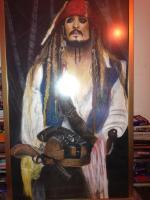 Yes - Captian Jack Sparrow - Charcoal Pastel