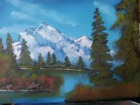 Alaska Mountain - Oil Paintings - By Stig Wall, Wet On Wet Painting Artist