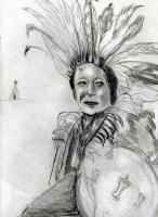 10 Min Sketch Series - Native Americans My Heritage - Pencil Pen Marker