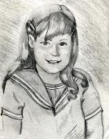Drawing - Brown Eyed Girl - Pencil