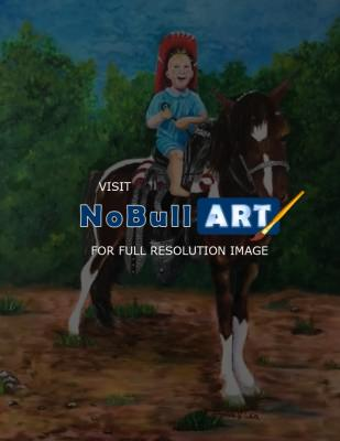 Oil Painting - Little Buckaroo - Oil