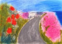Landscapes - Cyprus Road To The Sea - Add New Artwork Medium