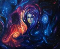 Portrait Dream - Birth Of Galaxy - Oil On Canvas