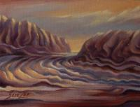 Fantasy - Red Jasper River - Oil On Canvas