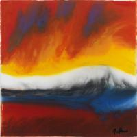 Sunrise - Resin On Canvas Mixed Media - By Daniel Nolan, Abstract Mixed Media Artist