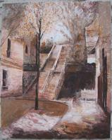 Paris - Stairs In Montmartre - Oil On Canvas