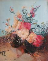 Flowers - Flowers And Venice - Oilacril On Canvas