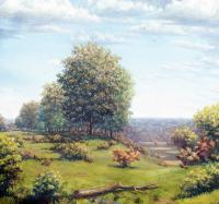 Athens County - Oil On Cavas Paintings - By Todd Norris, Romantic Painting Artist