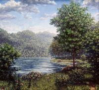 Strouds Run - Oil On Cavas Paintings - By Todd Norris, Romantic Painting Artist