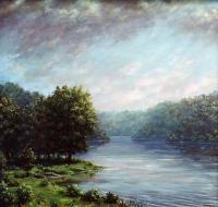 Dow Lake - Oil On Cavas Paintings - By Todd Norris, Romantic Painting Artist