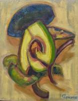 Botanicals - Avocado - Oil On Panel