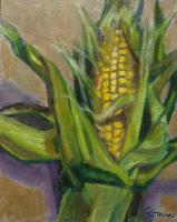 Botanicals - Corn Husk - Oil On Panel
