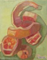 Botanicals - Pink Grapefruit - Oil On Panel