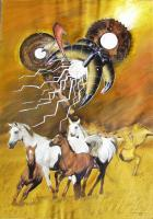 Real And Surreal World - Vu 18 Galopping Horse Herd 2 - Ferroprint