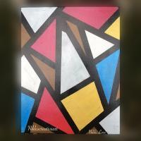 Abstract - Like Looking Through Stain Glass - Acrylic