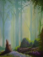 Fallen Tree - Acrylic On Canvas Paintings - By Steven Graff, Realism Painting Artist
