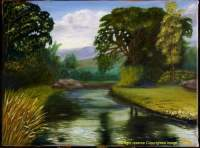 Oils - The River - Oil On Canvas