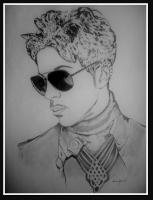 Black And White - Prince - Pencil