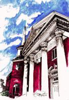 Our Lords House - Pen  Ink W Water Colors Paintings - By Daren Tanner, Greeting Cards Painting Artist