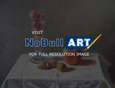 Still Life - Apple And Plums - Oil