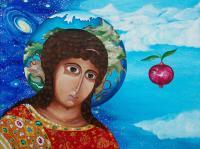 Add New Collection - Pomegranate Cognition 116 Cm  89 Cm - Acrylics