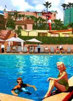 Poolside - Beverly Hills Hotel - Acrylics