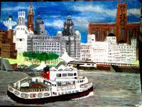 City Scape - Liverpool Water Front - Acrylic