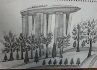 Landscape - Marina Bay Sands - Pencils