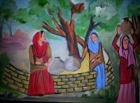 Life - Indian Village Women - Oil Paints