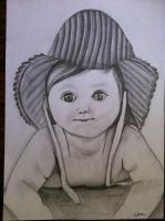 Pencil Sketch - Cute Baby - Pencils