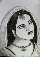 Pencil Sketch - Woman - Charcoal