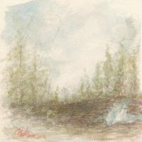 Water Color - Impression - Water Color Study - Landscape I - Water Color - Graphite