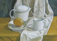 Still Life - Symphony In White - Acrylic