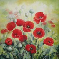 Decorative - Poppies - Acrylic