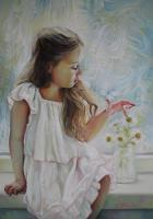Portrait - Butterfly - Oil