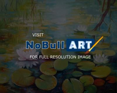 Decorative - Water Lilies On The Pond - Oil