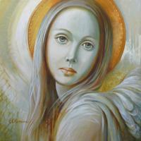 Angel - Acrylic Paintings - By Elena Oleniuc, Decorative Painting Artist