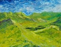 The Lakes Of Killarney - Oil On Canvas Panel Paintings - By Conor Murphy, Impasto Style Painting Artist