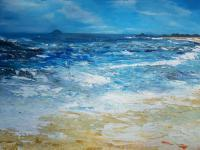 Irish Land And Seascape - The Skellig Island - Acrylic On Canvas Panel