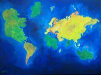 Irish Land And Seascape - The World Atlas According To The Irish - Acrylic On Board