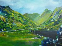 Irish Land And Seascape - The Ring Of Kerry - Acrylic On Board