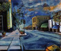 Cityscapes - Broadway Street - Oil On Canvas