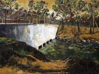 Impressionism - Dam At Five Mile - Oil On Canvas