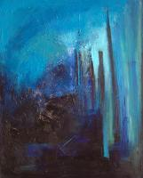 Abstract - Blue Night - Oil On Canvas