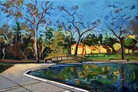 Impressionism - Footbridge And Trees - Oil On Canvas